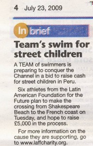 LAFF Channel Swim in Dover Express