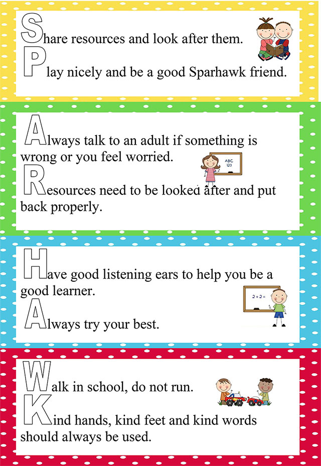School Rules Sparhawk Infant And Nursery